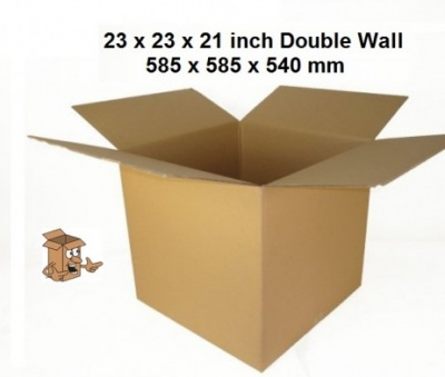 Large double walled storage boxes 23x23x21''
