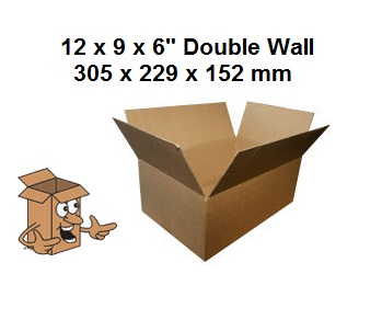 A4 Cardboard storage boxes 12x9x6'' double wall