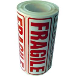 Fragile Labels 500 rectangular warning stickers