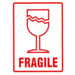 image relating to Fragile Glass Labels Printable identified as Delicate labels 80x110mm 10s
