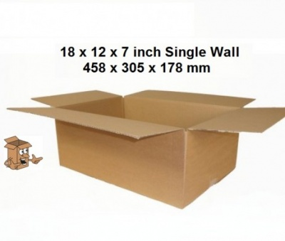 Cardboard postal boxes 18x12x7″ Single wall