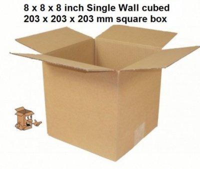 Small square cardboard boxes 8x8x8″ Single walled