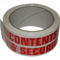Contents-checked-security sealed tape