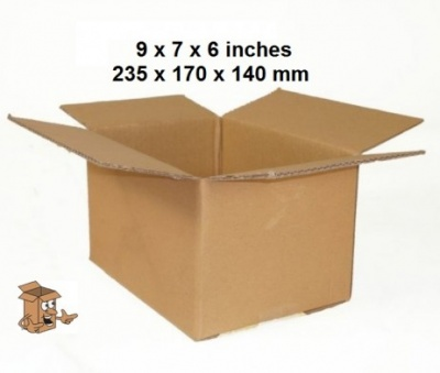 Cardboard boxes 9x7x6″ strong double wall