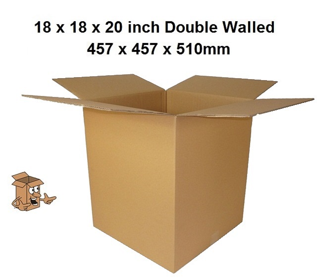 """15 STRONG DOUBLE WALL MAILING CARDBOARD BOXES 18X18X12/"""""""