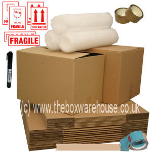 Small house moving kit with removal boxes