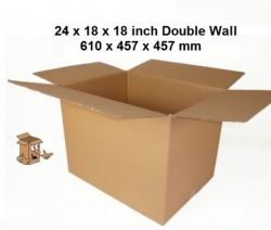 Cardboard boxes 24x18x18″ large double wall carton