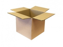 Small cube cardboard postal boxes 5x5x5″