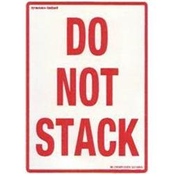 Do not stack labels 80-110mm 10s