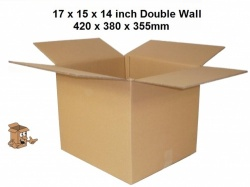 Storage boxes 17x15x14'' cardboard book box