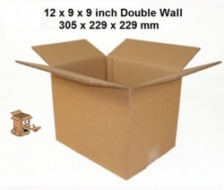 Cardboard boxes 12x9x9'' double wall A4