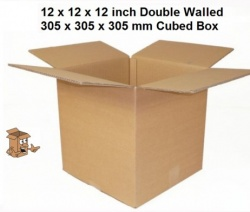 Cardboard boxes 12x12x12 inch double wall square box