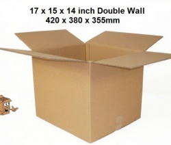 Cardboard storage boxes 17x15x14 inch double wall book boxes