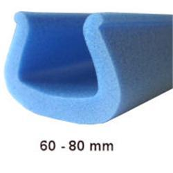 Foam edging 60-80mm 2m large U profile