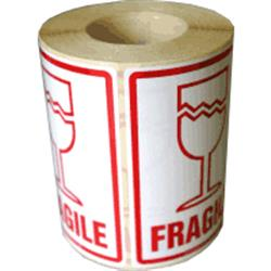 Fragile labels, 500 fragile warning stickers