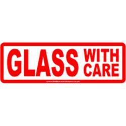 Glass-with-care labels 150x48mm 10s