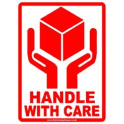 Handle-with-care labels 80x110mm 10s