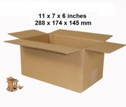 Cardboard boxes 11 x 7 x 6 inch Single wall
