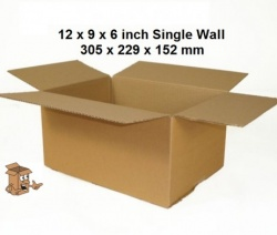 A4 Cardboard boxes 12x9x6″ single wall