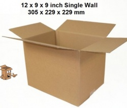 A4 Cardboard boxes 12x9x9'' Single wall