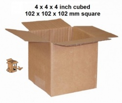 Cardboard storage box 4x4x4″ small postal boxes