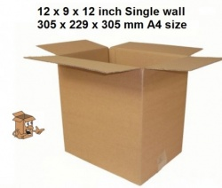 A4 Cardboard boxes 12x9x12″ Single wall
