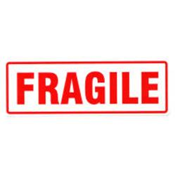 Fragile labels 150x48mm packs of 10