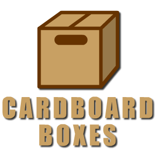 cardboard boxes, removal & storage boxes